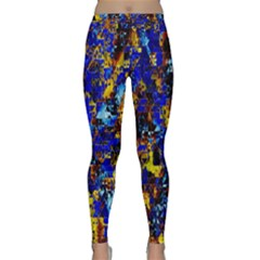Network Blue Color Abstraction Classic Yoga Leggings