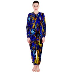 Network Blue Color Abstraction OnePiece Jumpsuit (Ladies)