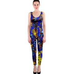 Network Blue Color Abstraction OnePiece Catsuit