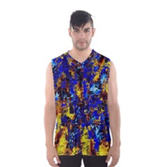 Network Blue Color Abstraction Men s Basketball Tank Top