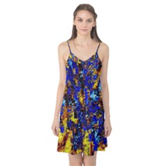 Network Blue Color Abstraction Camis Nightgown