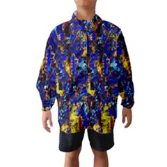Network Blue Color Abstraction Wind Breaker (Kids)