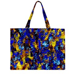 Network Blue Color Abstraction Large Tote Bag