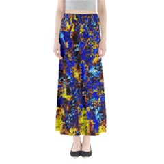 Network Blue Color Abstraction Maxi Skirts
