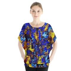 Network Blue Color Abstraction Blouse