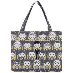 Man Girl Face Standing Mini Tote Bag