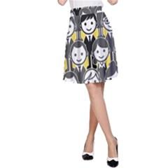 Man Girl Face Standing A-Line Skirt