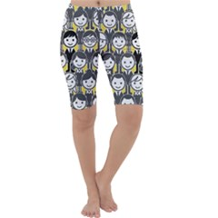 Man Girl Face Standing Cropped Leggings