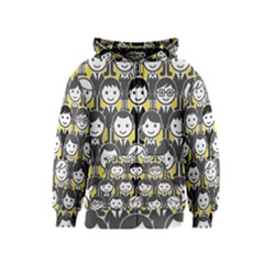 Man Girl Face Standing Kids  Zipper Hoodie