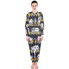 Man Girl Face Standing OnePiece Jumpsuit (Ladies)