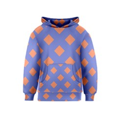 Orange Blue Kids  Pullover Hoodie