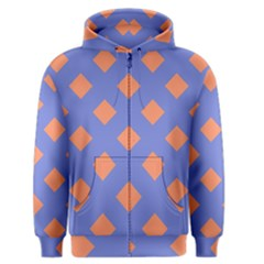 Orange Blue Men s Zipper Hoodie