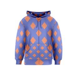 Orange Blue Kids  Zipper Hoodie