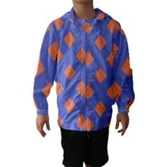 Orange Blue Hooded Wind Breaker (Kids)