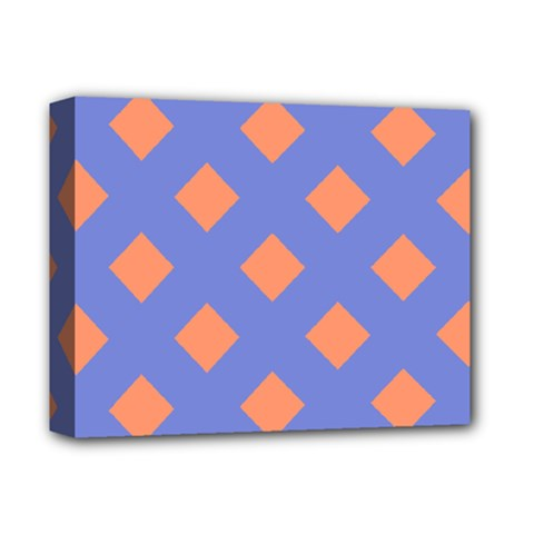 Orange Blue Deluxe Canvas 14  x 11
