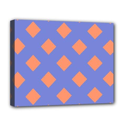 Orange Blue Deluxe Canvas 20  x 16
