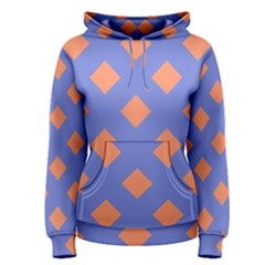 Orange Blue Women s Pullover Hoodie