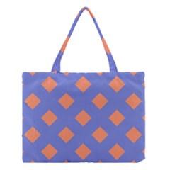 Orange Blue Medium Tote Bag