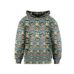 Owl Eye Blue Bird Copy Kids  Pullover Hoodie