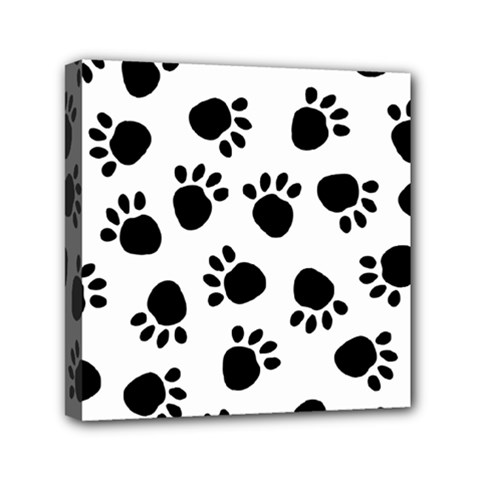 Paws Black Animals Mini Canvas 6  x 6
