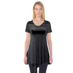 On Black Short Sleeve Tunic