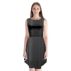 On Black Sleeveless Chiffon Dress