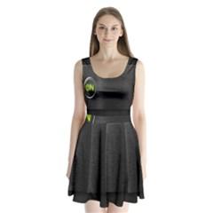 On Black Split Back Mini Dress