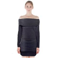 On Black Long Sleeve Off Shoulder Dress