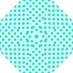 Plaid Blue Box Folding Umbrellas