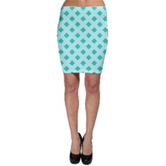 Plaid Blue Box Bodycon Skirt