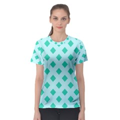 Plaid Blue Box Women s Sport Mesh Tee