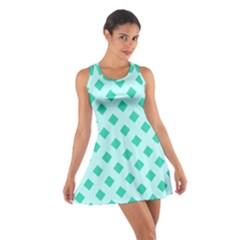 Plaid Blue Box Cotton Racerback Dress