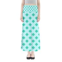 Plaid Blue Box Maxi Skirts