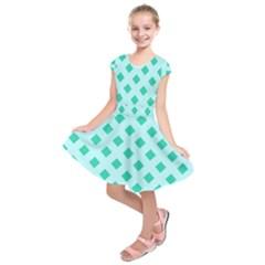 Plaid Blue Box Kids  Short Sleeve Dress