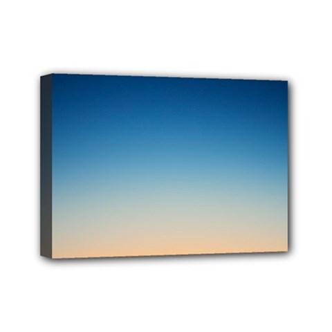 Rainbow Blue Orange Purple Mini Canvas 7  x 5