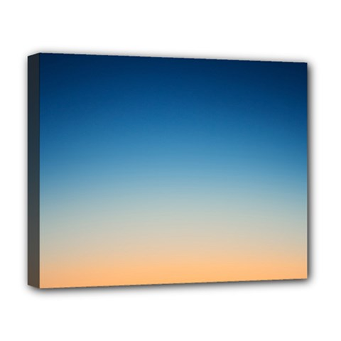 Rainbow Blue Orange Purple Deluxe Canvas 20  x 16