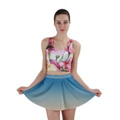 Rainbow Blue Orange Purple Mini Skirt