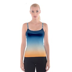Rainbow Blue Orange Purple Spaghetti Strap Top