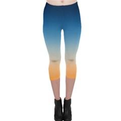Rainbow Blue Orange Purple Capri Leggings