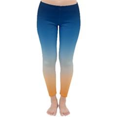 Rainbow Blue Orange Purple Classic Winter Leggings