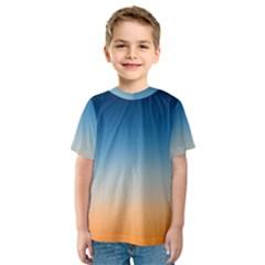 Rainbow Blue Orange Purple Kids  Sport Mesh Tee
