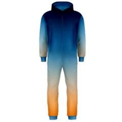 Rainbow Blue Orange Purple Hooded Jumpsuit (Men)