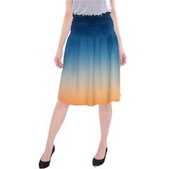 Rainbow Blue Orange Purple Midi Beach Skirt