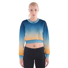 Rainbow Blue Orange Purple Women s Cropped Sweatshirt