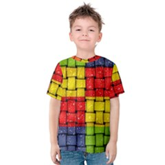 Pinterest Water Colorfull Kids  Cotton Tee