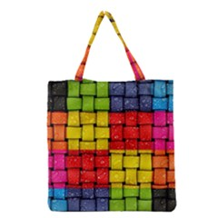 Pinterest Water Colorfull Grocery Tote Bag