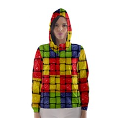 Pinterest Water Colorfull Hooded Wind Breaker (Women)