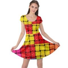 Pinterest Water Colorfull Cap Sleeve Dresses