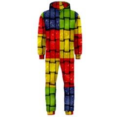 Pinterest Water Colorfull Hooded Jumpsuit (Men)