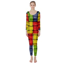 Pinterest Water Colorfull Long Sleeve Catsuit